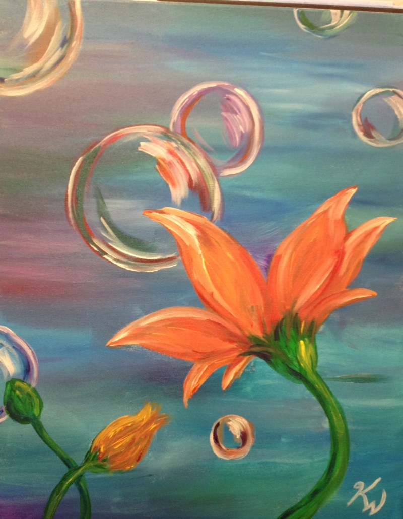 Bubble Flowers: Kit WITH Brushes