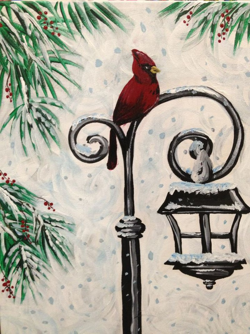 On Wheels @ Amy's | Cardinal on a Lamppost