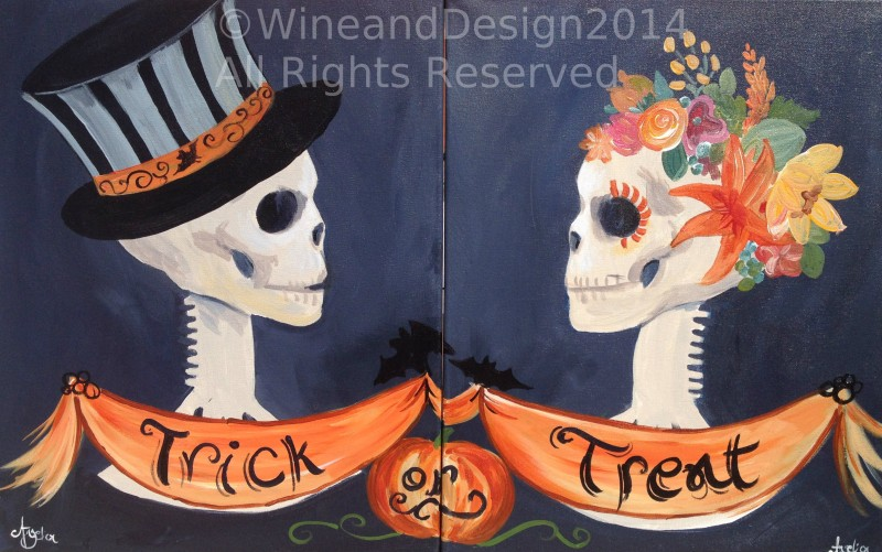 Date Night Trick Or Treat Skulls Williamsport Pa Wine Design