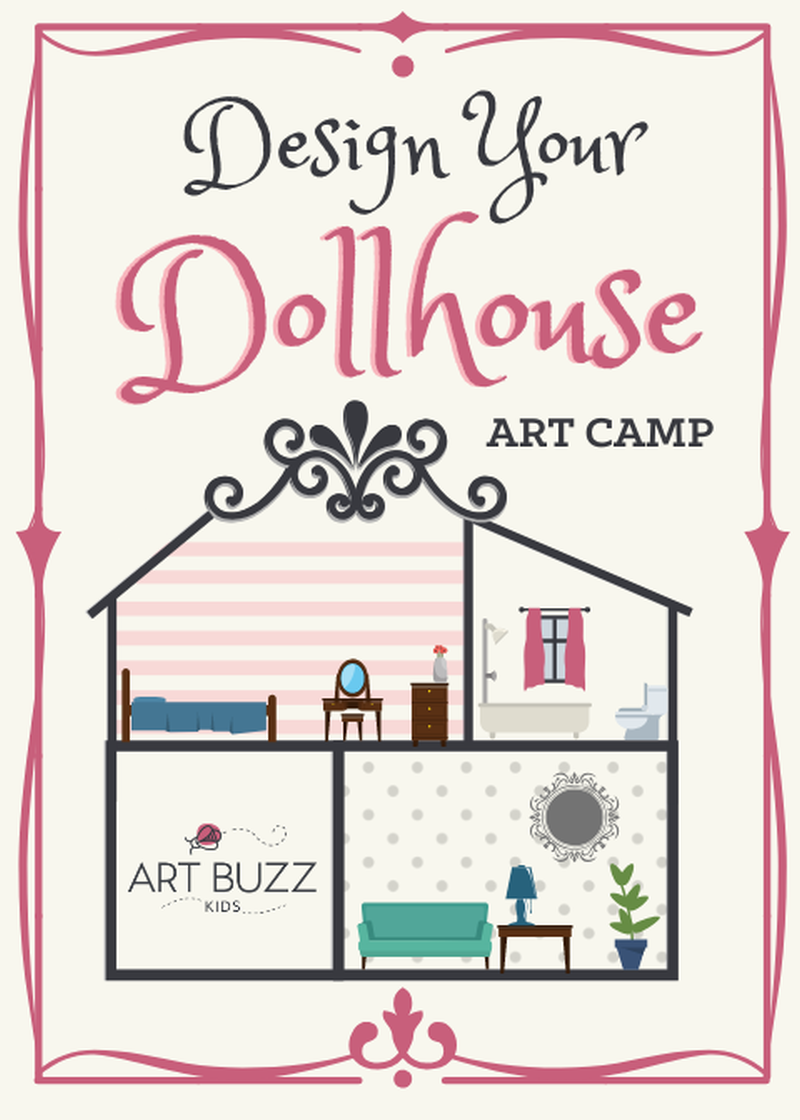 Design your Dollhouse Art Camp | Half Day Camp Monday - Friday 9:00 am to  1:00 pm | Charlotte, NC | Wine & Design