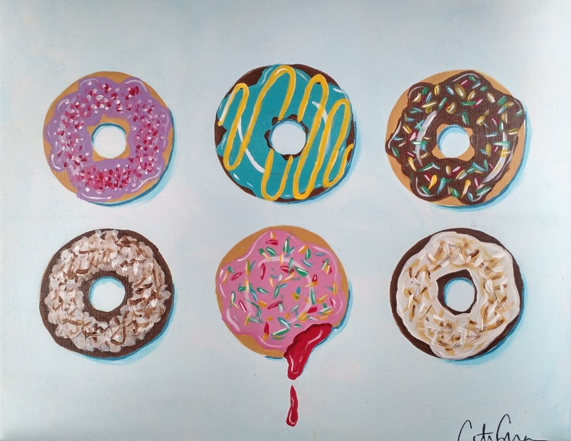 Delicious Donuts- TAKE HOME PAINT KIT - - ORDER TODAY! CURB SIDE PICK UP TOMORROW 2PM-5PM!