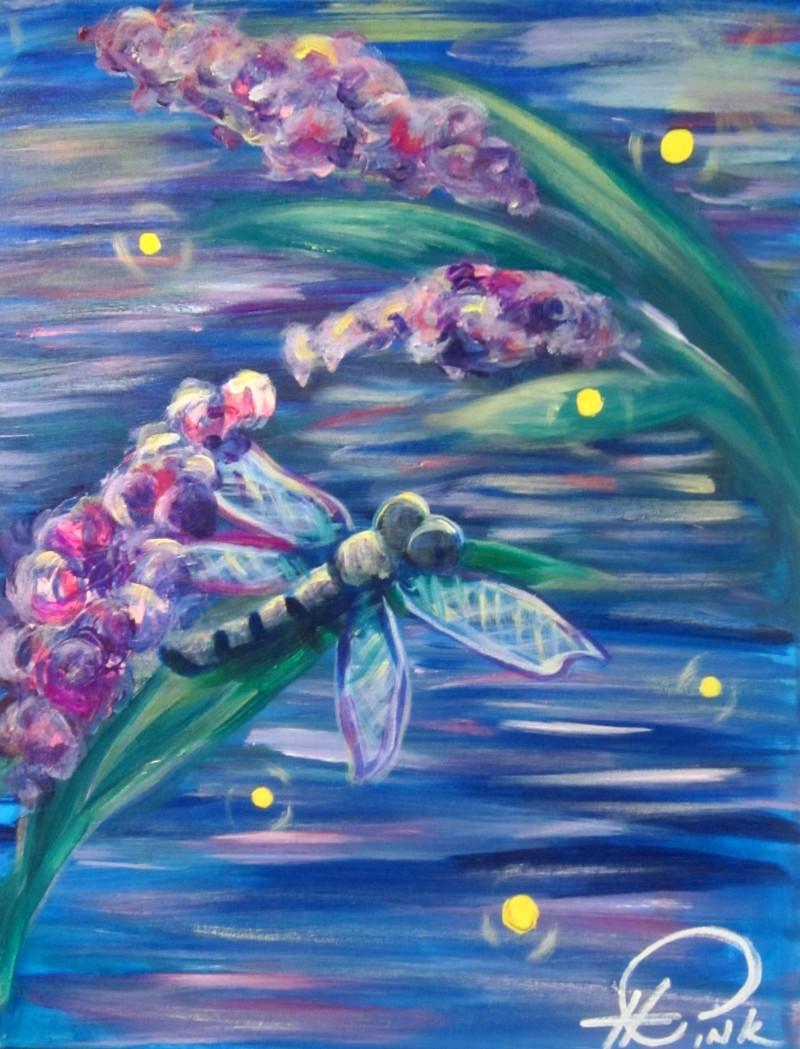 Dragonfly & Fireflies