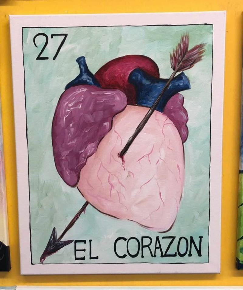 "Loteria Lunes! ""El Corazon!"" Adult Studio!"