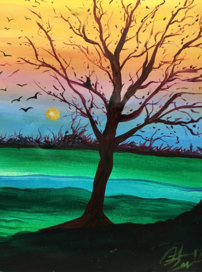 LIVE Virtual Class - Evening in Color - Acrylic on Canvas