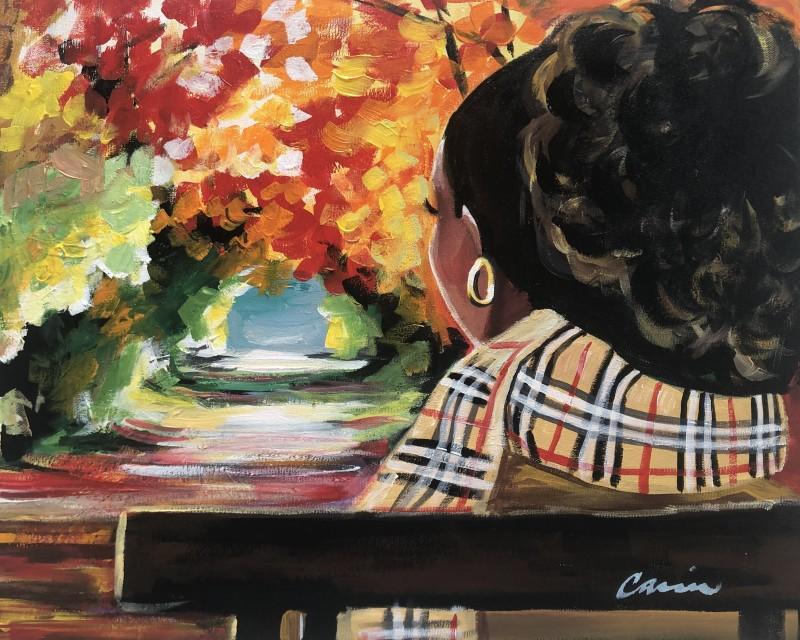 IN-STUDIO: Fall Diva - 16x20 Acrylic on Canvas