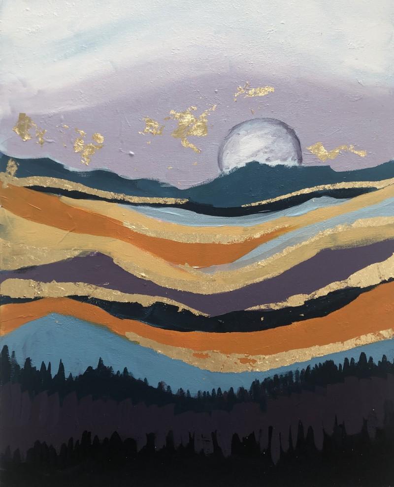 NEW GOLD LEAF Workshop: Fall Moon - In Studio Class