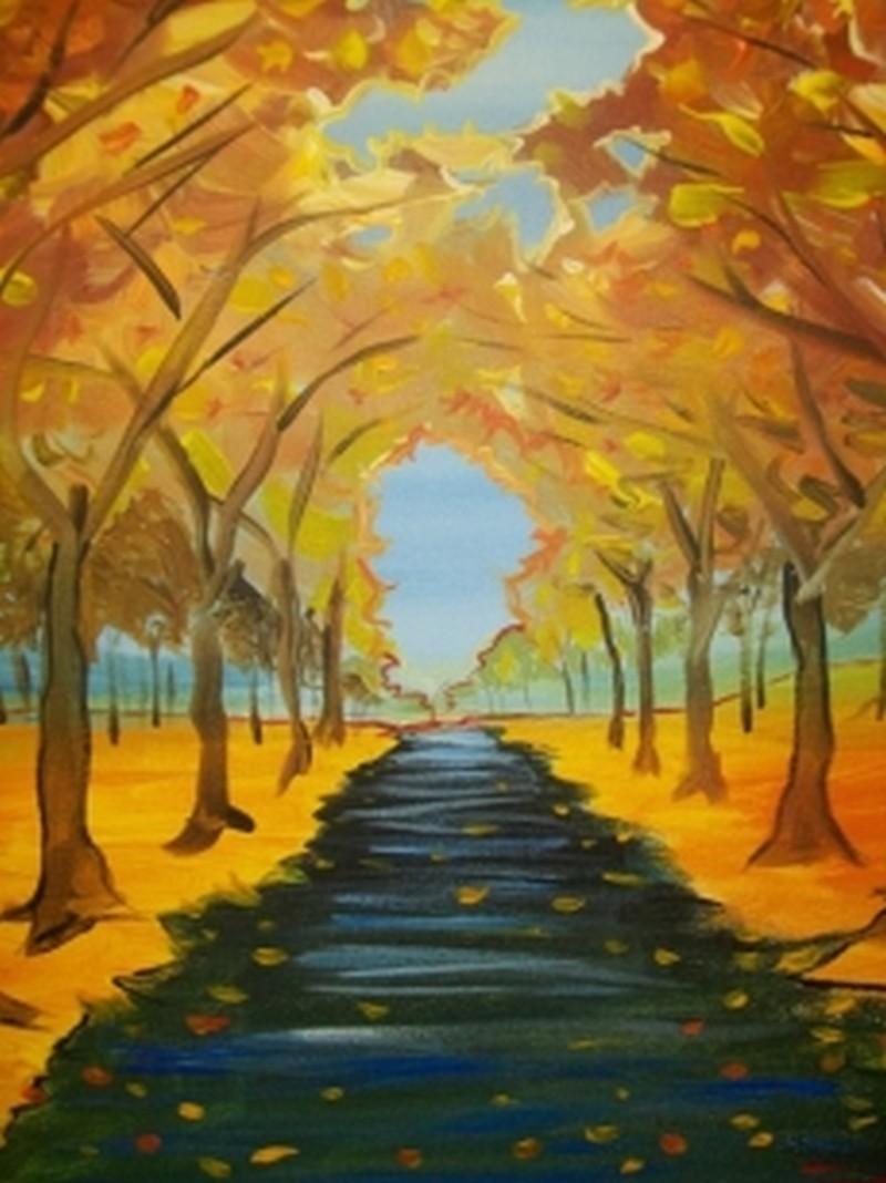 Fall Trees - In Studio Class
