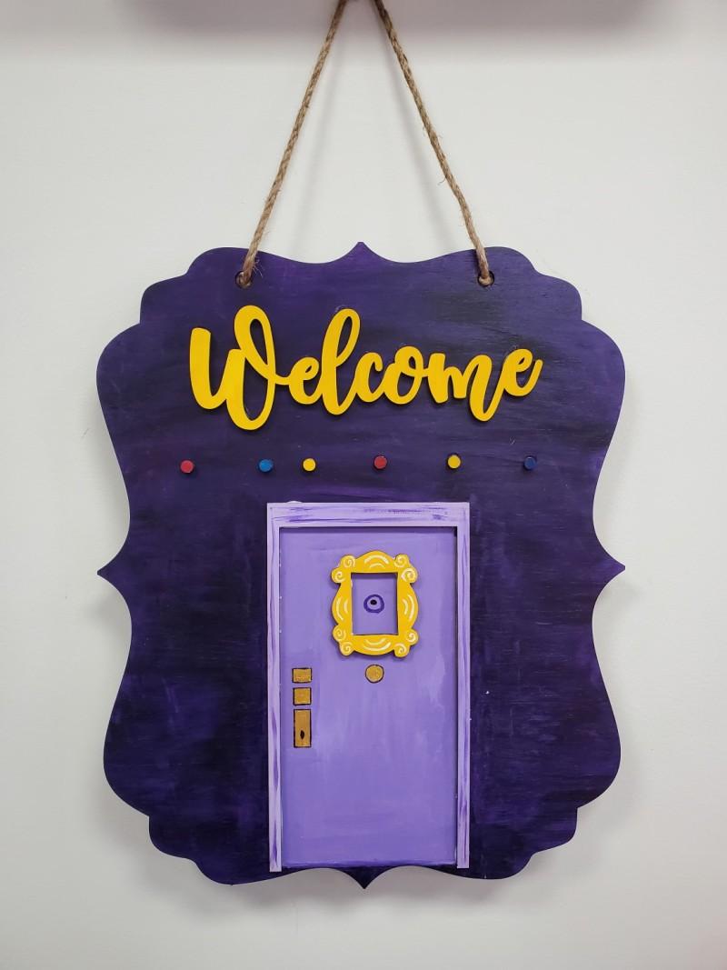 """22"""" Welcome FRIENDS Wooden Door Hanger"""