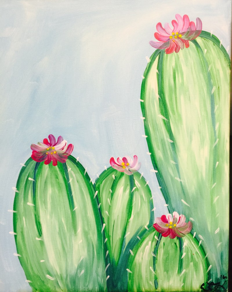 Virtual Paint pARTy Cactus Blossom