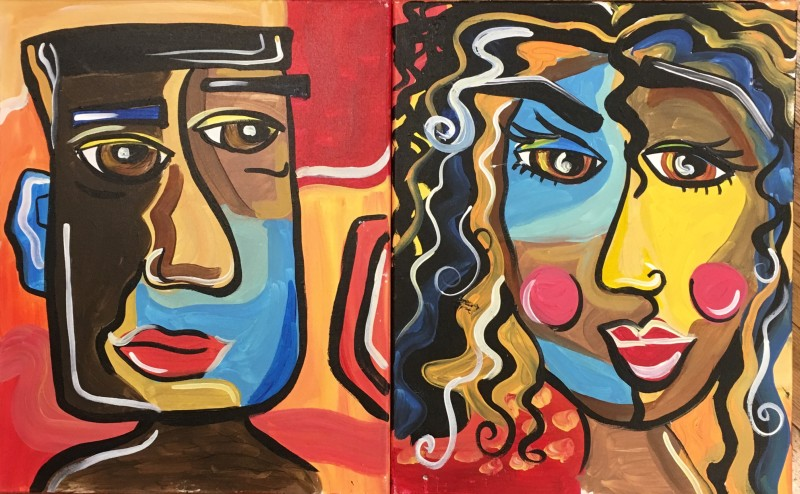 PICASSO DATE NIGHT 2 CANVASES | VIRTUAL PAINT CLASS WITH PAINT KIT | 8:30PM EST | PAINT KIT PICK UP 7/10 2PM-5PM