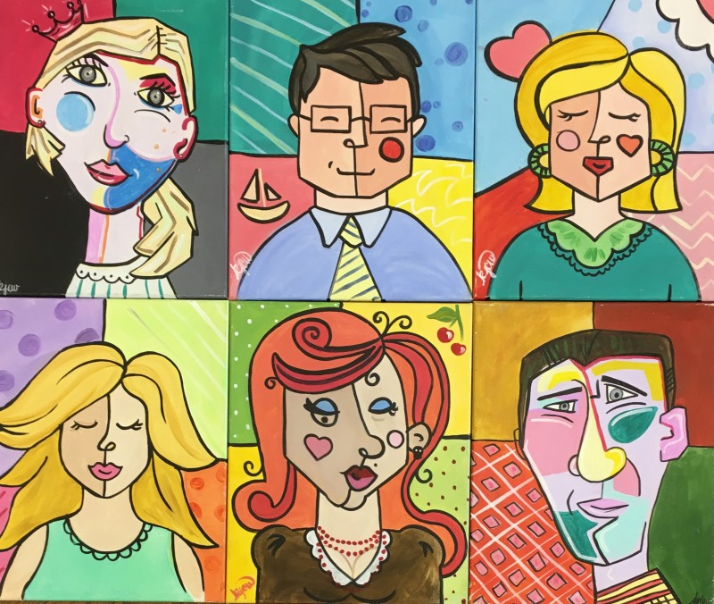 IN-STUDIO: Picasso Self Portrait - 16x20 Arcylic on Canvas