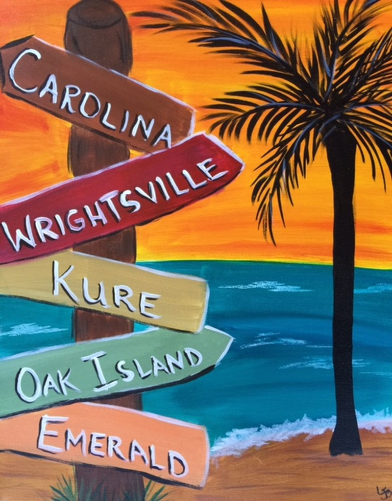Road to the Beach - In Studio Class (customize your names)