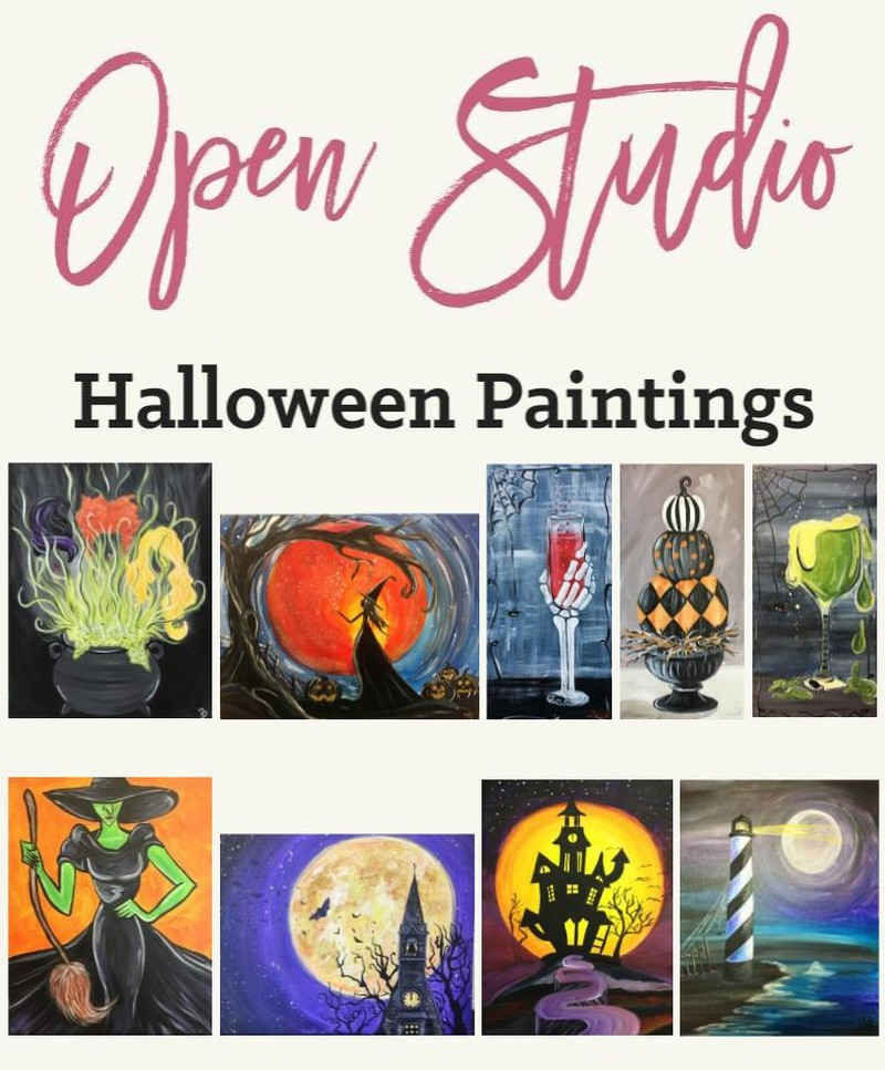 $31 Halloween Open Studio! Anytime between 12:00-4:00pm