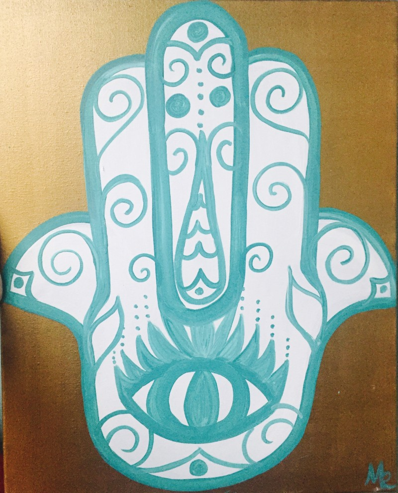 Hand of Peace- TAKE HOME PAINT KIT - - ORDER TODAY! CURB SIDE PICK UP TOMORROW 2PM-5PM!