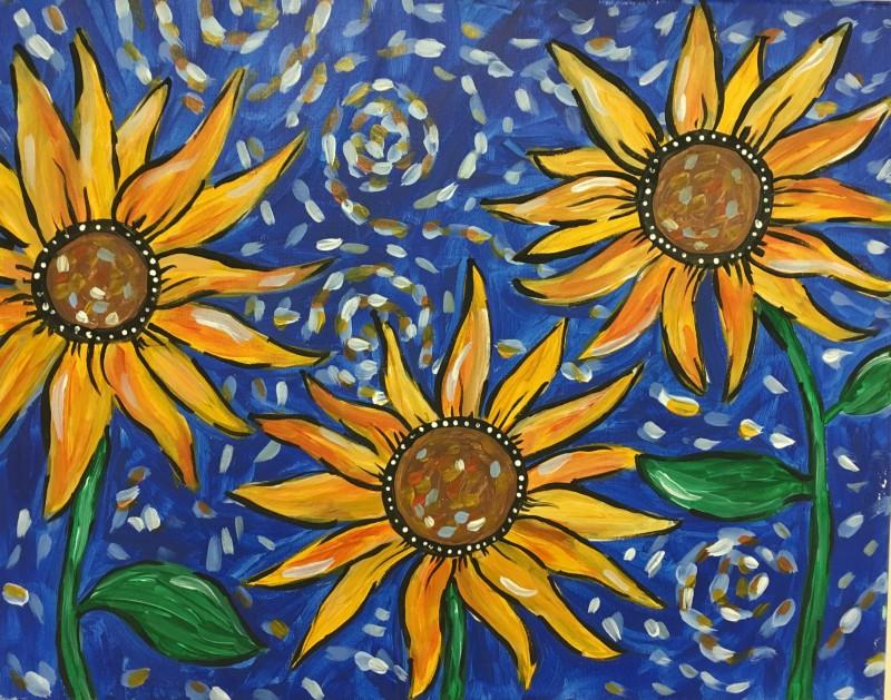 Van Gogh's Sunflowers - In Studio Class