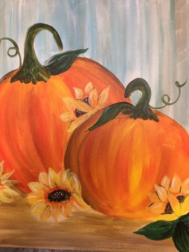 Sunflowers & Pumpkins - ZOOM Virtual Class with Take-Home Kit!