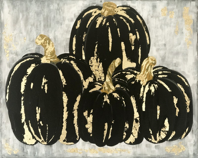 LIVE Virtual Class - Gilded Pumpkins