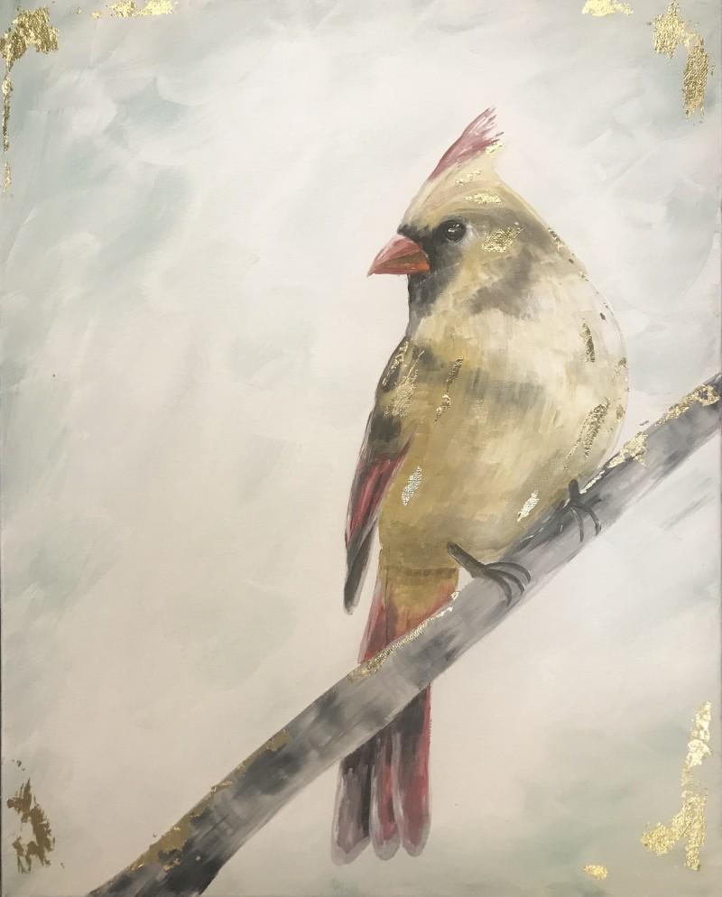 Gold Paint Lady Cardinal