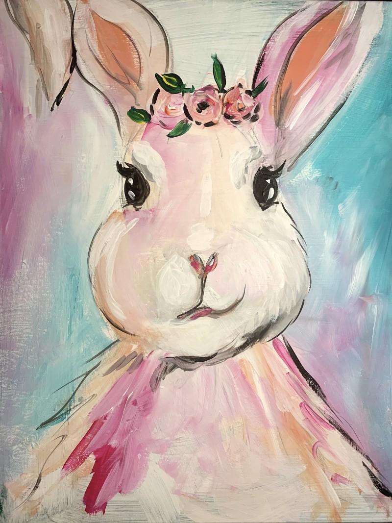 *Virtual* Floral Crown Bunny (Joshua)