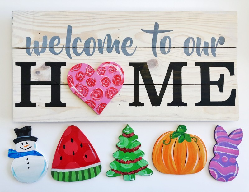 DIY | WELCOME TO OUR HOME INTERCHANGEABLE SIGN