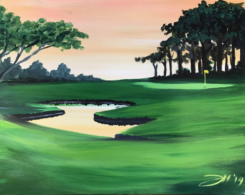 IN STUDIO   Sunset at the Golf Course