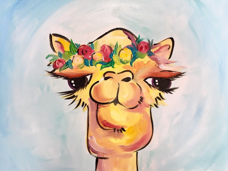 COBY THE CAMEL | VIRTUAL PAINT CLASS WITH PAINT KIT | 10:00PM EST | PAINT KIT PICK UP 7/15 2PM-5PM