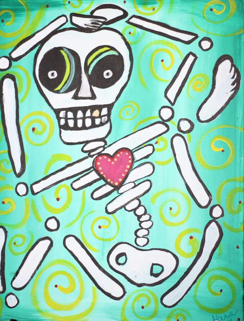 Art Buzz Kids   Liam Bones Funky Skeleton