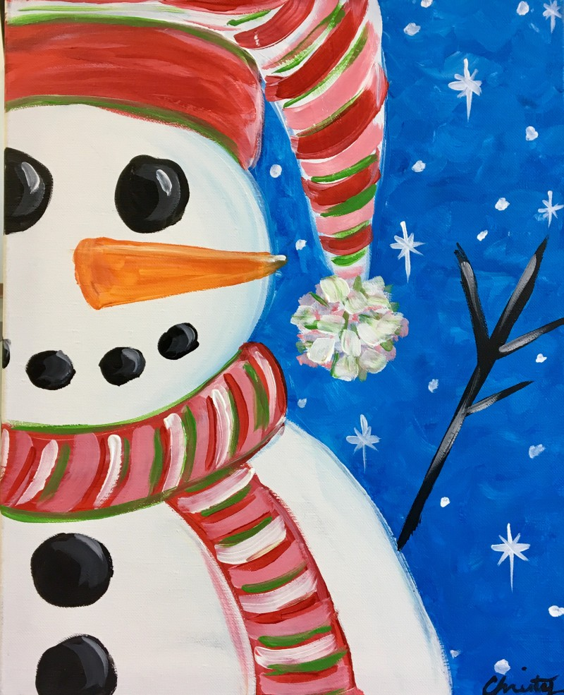 """$25 """"Jolly Snowman"""" 3:00-5:00pm 