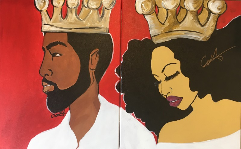 Virtual Class Kenan and Nala DATE night <br><br> ONE ticket gets you BOTH halves of this painting