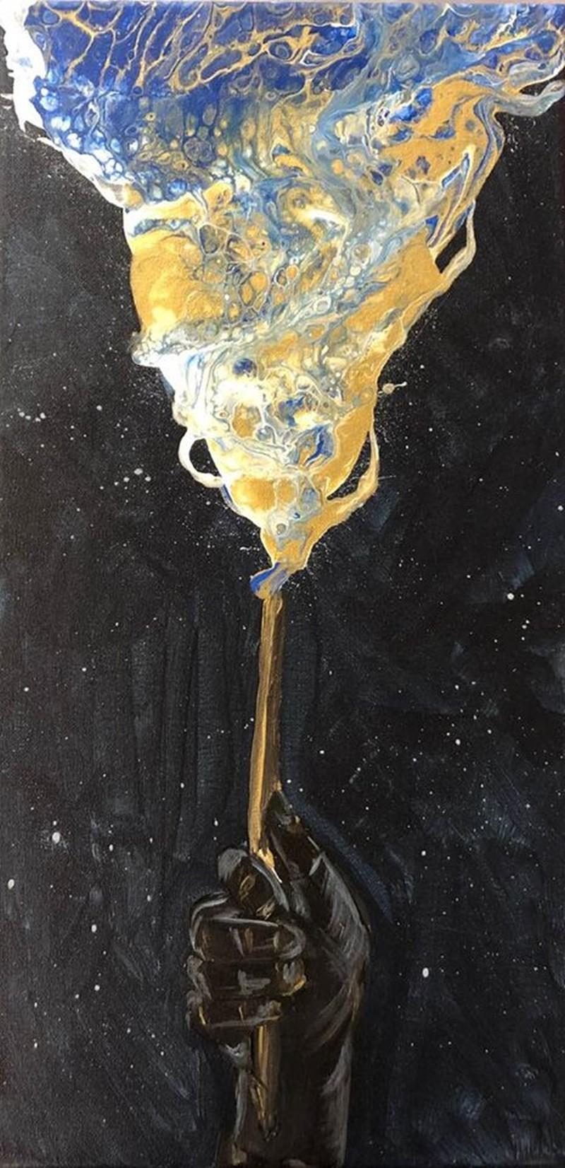 Acrylic Pour Wizard Wand