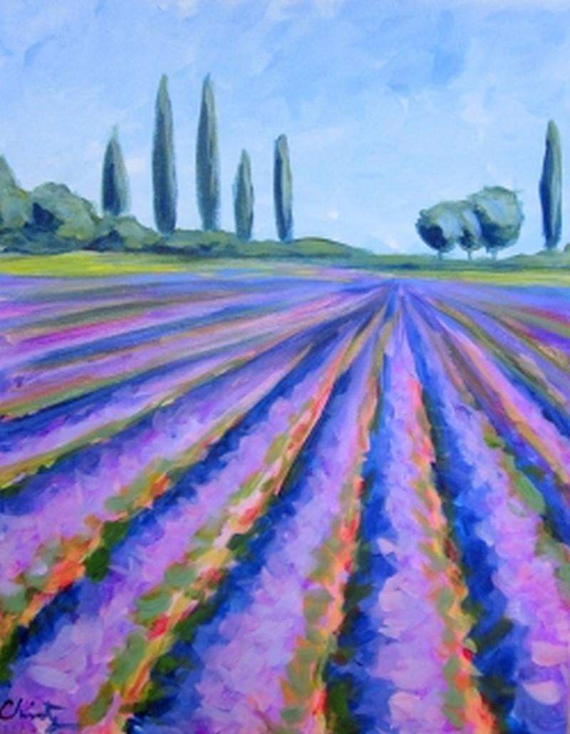 In Studio Class: Lavender Fields Forever