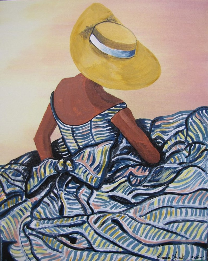 IN-STUDIO: Lady in a Hat 16x20 Acrylic on Canvas