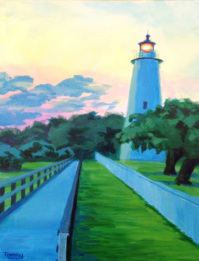 """VIRTUAL CLASS! """"Ocracoke Sunset"""" Pick-Up Paint Kits between 4:00-6:00pm. Join us LIVE on Zoom at 8:00pm"""