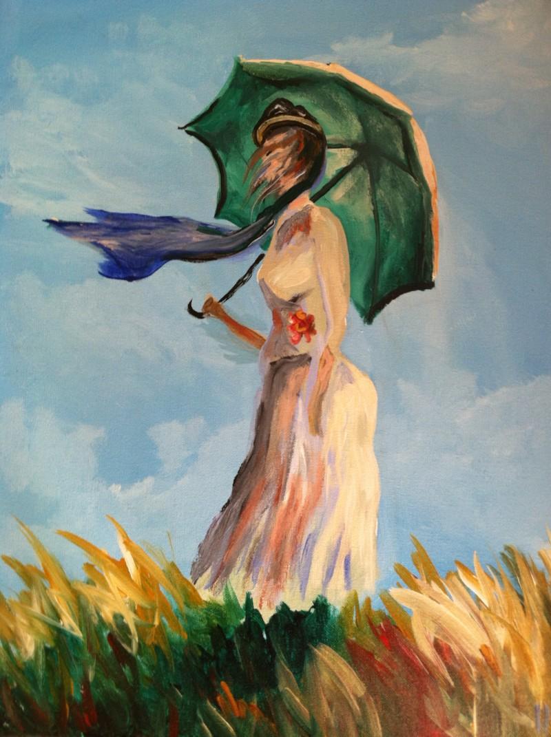 Monet's Umbrella Lady