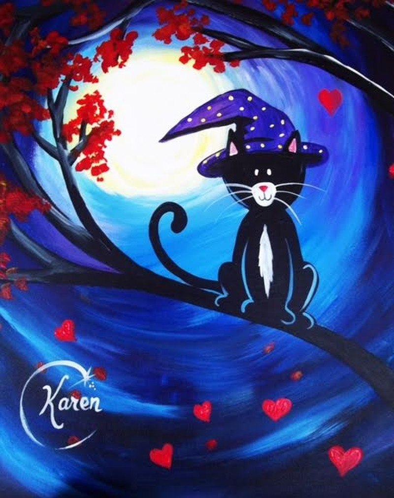 October Kitty - includes Halloween Snack Bag