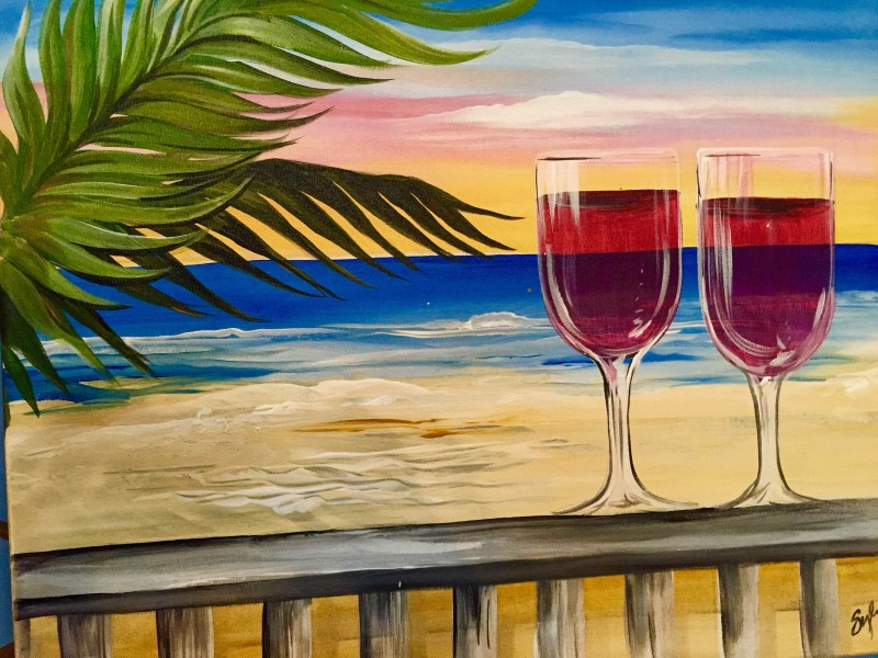 Tropical Wine Sunset