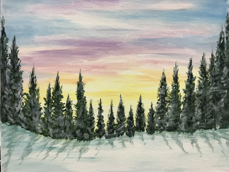 Pastel Evergreens - Virtual Class ONLY