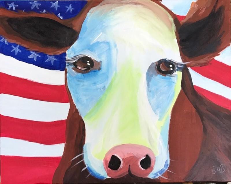 Patriotic Cow!