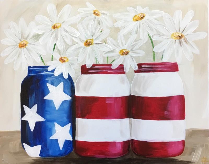 Patriotic Daisies