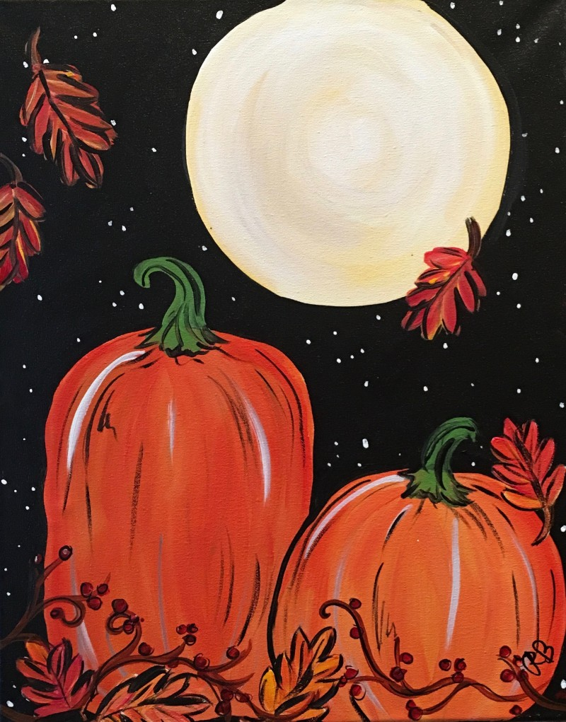 """Candles & Canvas! USU Candle Making Workshop + Mini 12x16 """"Harvest Moon"""" Painting! 6:30-8:30pm"""