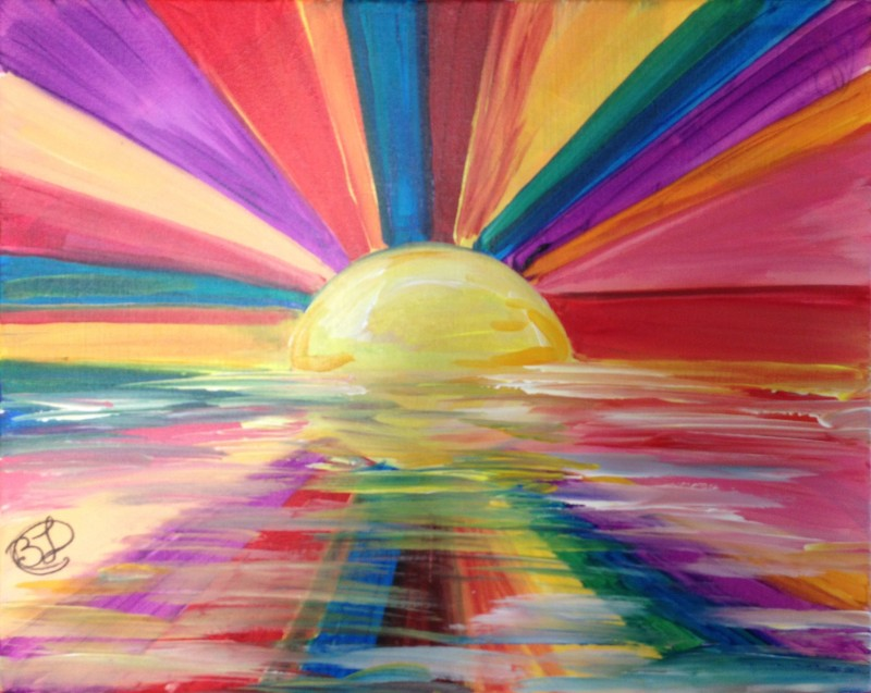 Art of Science 1 Day Camp: Rainbow Sunset Experiment - Monday 7/5 9am-1pm