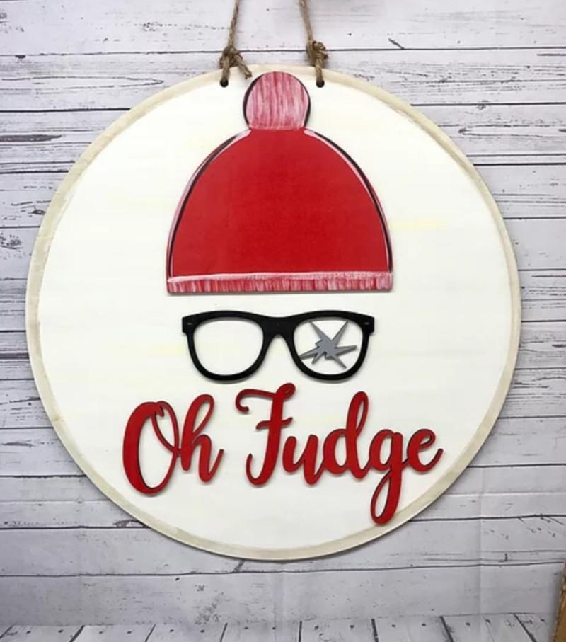 PRE-ORDER: Oh Fudge Door Hanger