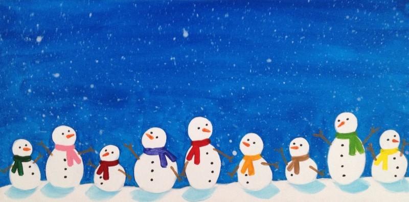 Snowmen Family