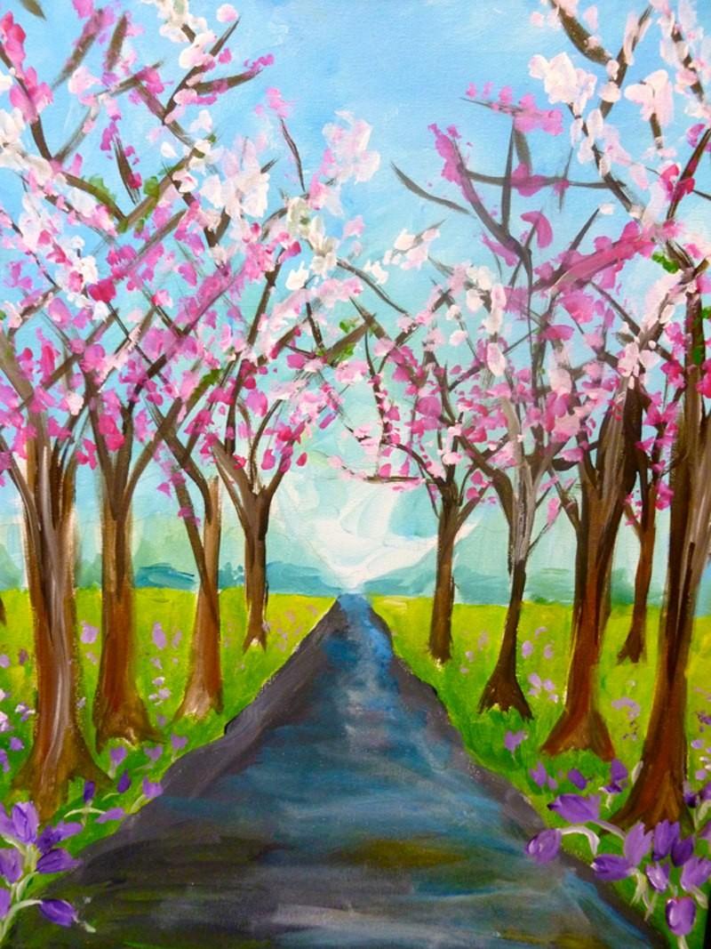 IN-STUDIO: Spring Walk 16x20 Acrylic on Canvas