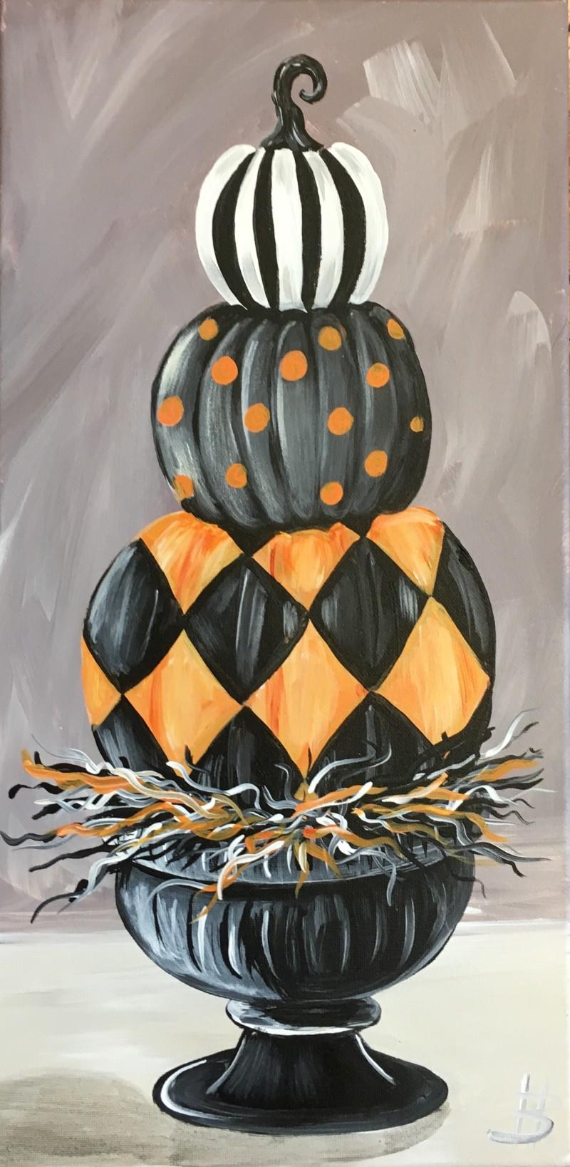 Virtual Class Stacked Pumpkins