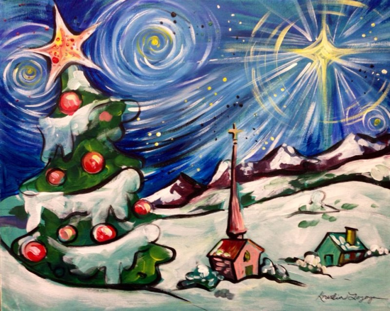 Starry Night Holiday Town