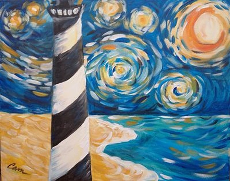 Starry Night Lighthouse