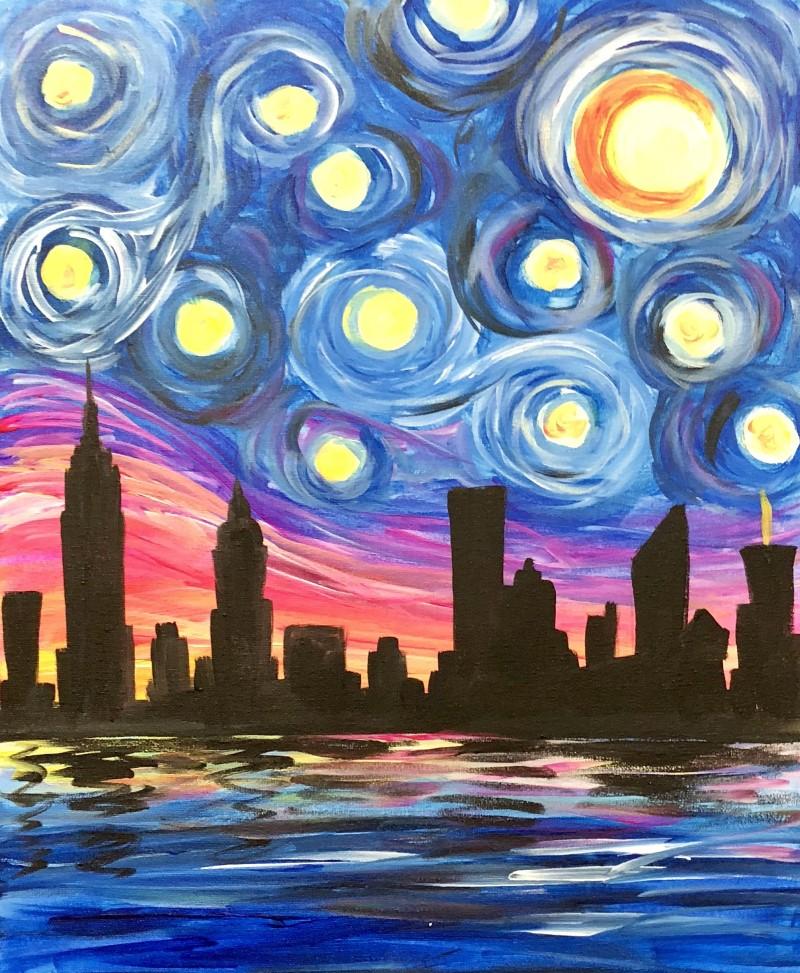 Starry Skyline - Virtual Paint Class & Take Home Kit