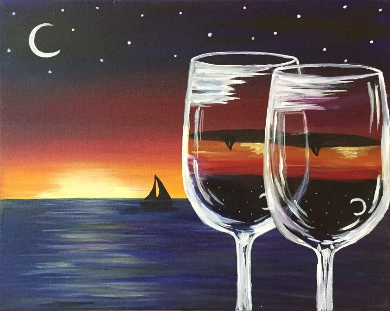 Pint & Paint Night @ Tidal Creek Brewhouse 6:30-8:30 - Sunset Cheers
