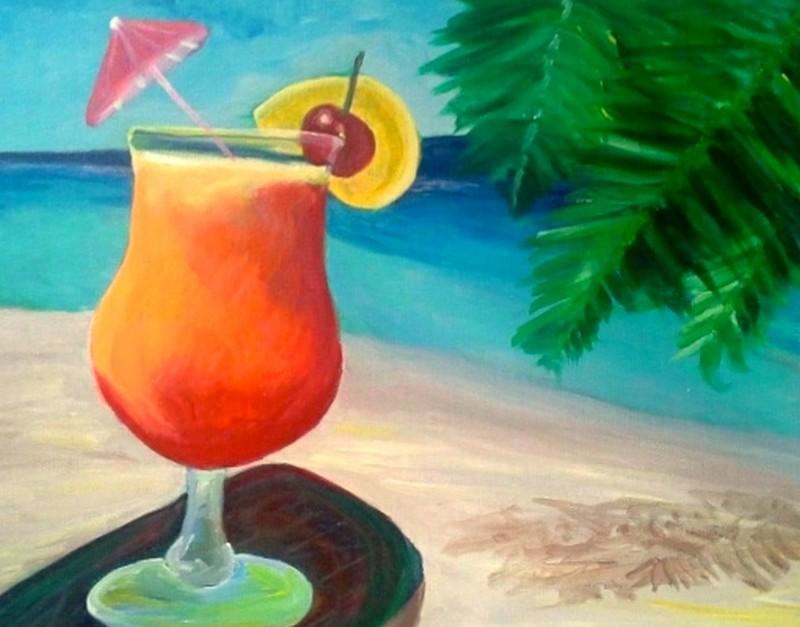 Tropical Seaside Drink